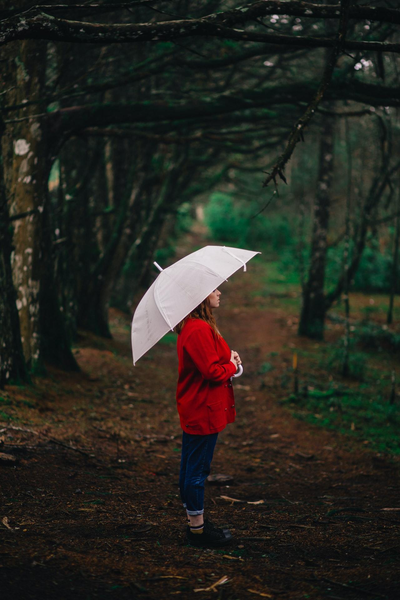 En regnponcho för skydd vid dåligt väder